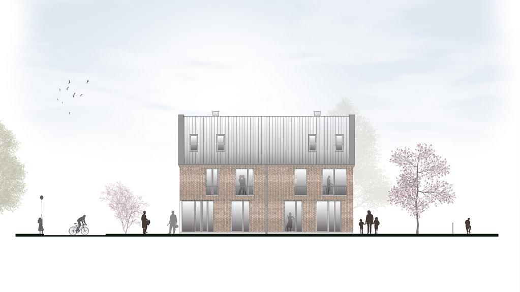 Architektur Ansicht ansicht süd krogmann többen