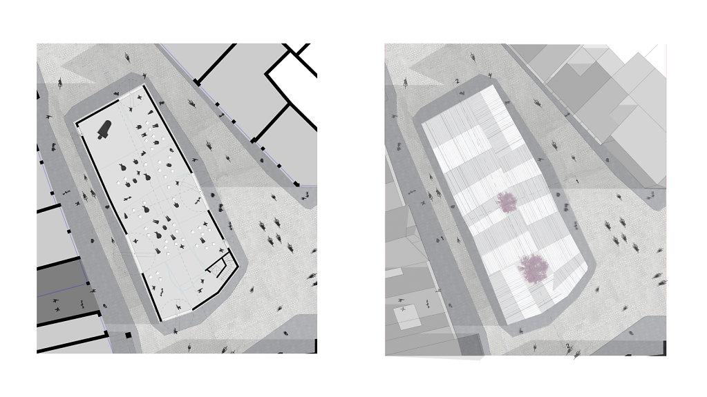 Grundriss EG - Dachaufsicht