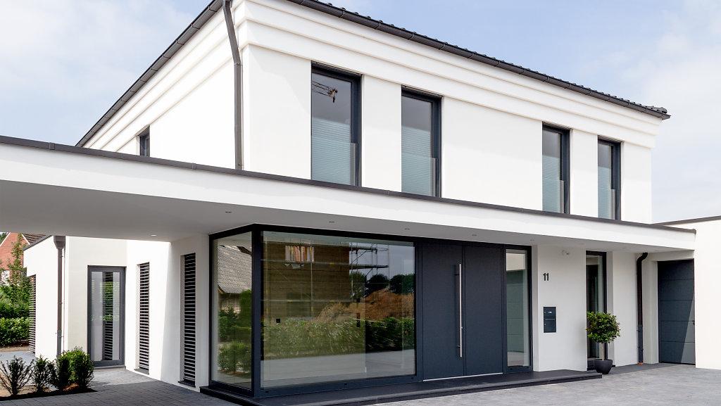 moderne stadtvilla in glandorf krogmann t bben. Black Bedroom Furniture Sets. Home Design Ideas