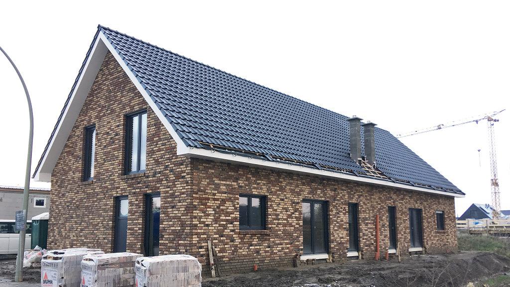 Baufortschritt des Doppelhauses