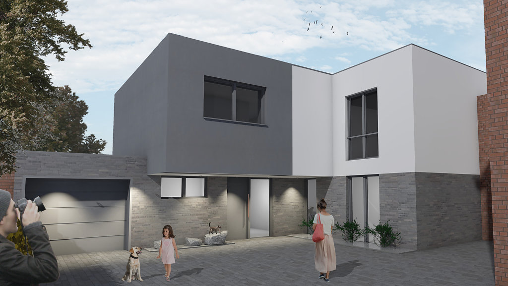 An- und Neubau eines Einfamilienhauses in Münster
