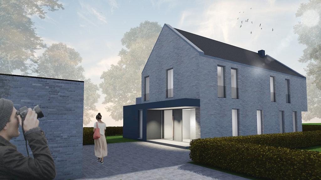 11.2018 Entwurf eines modernen Einfamilienhauses