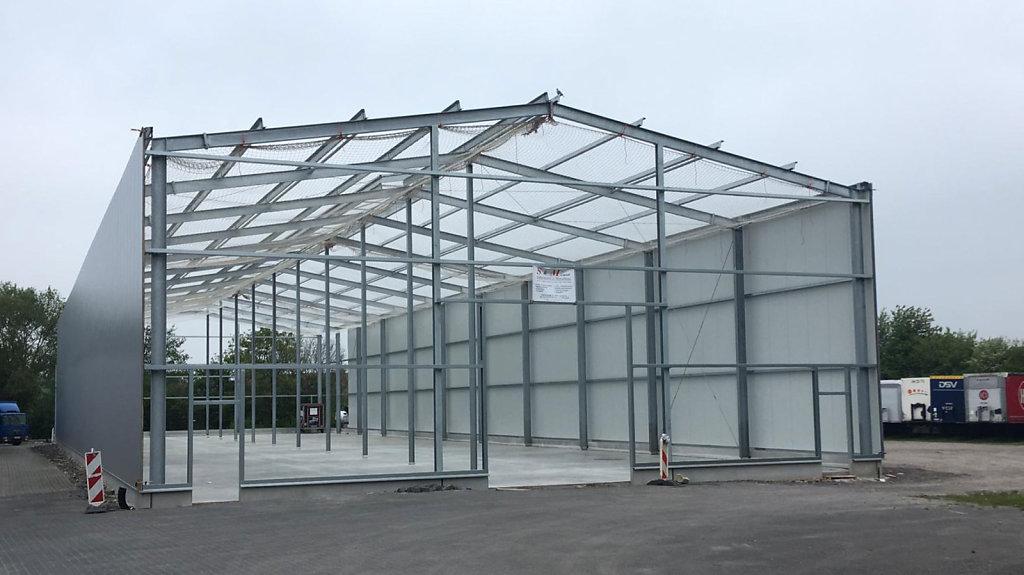 Baufortschritt der Lagerhalle