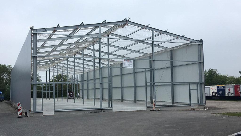 05.2019 Baufortschritt der Lagerhalle in Altenberge