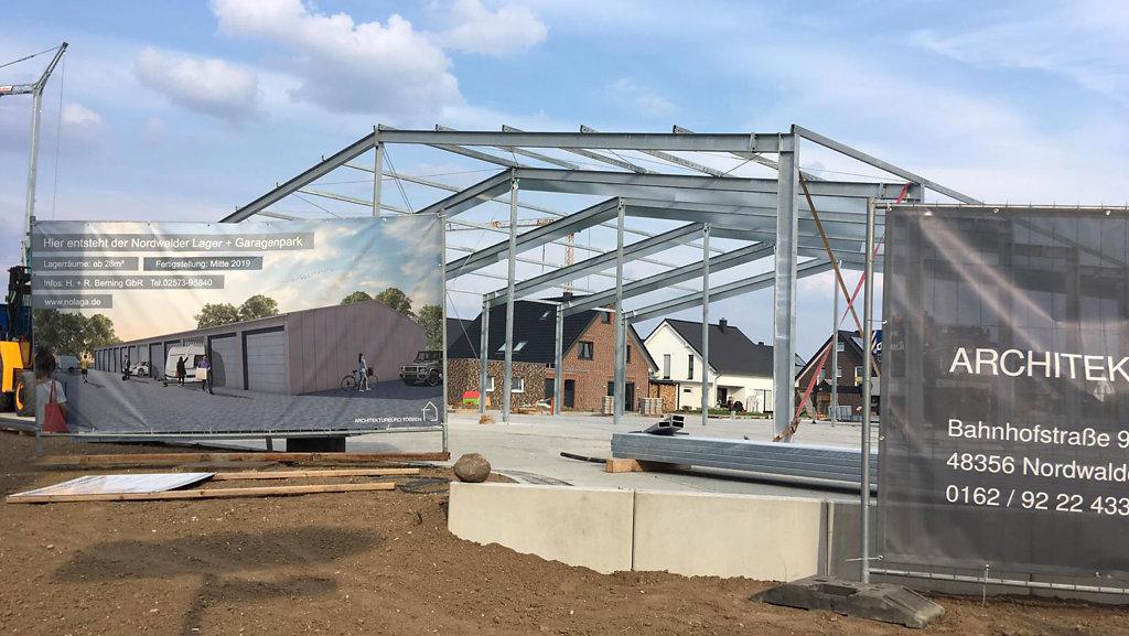 Baufortschritt des Lager- und Garagenparks