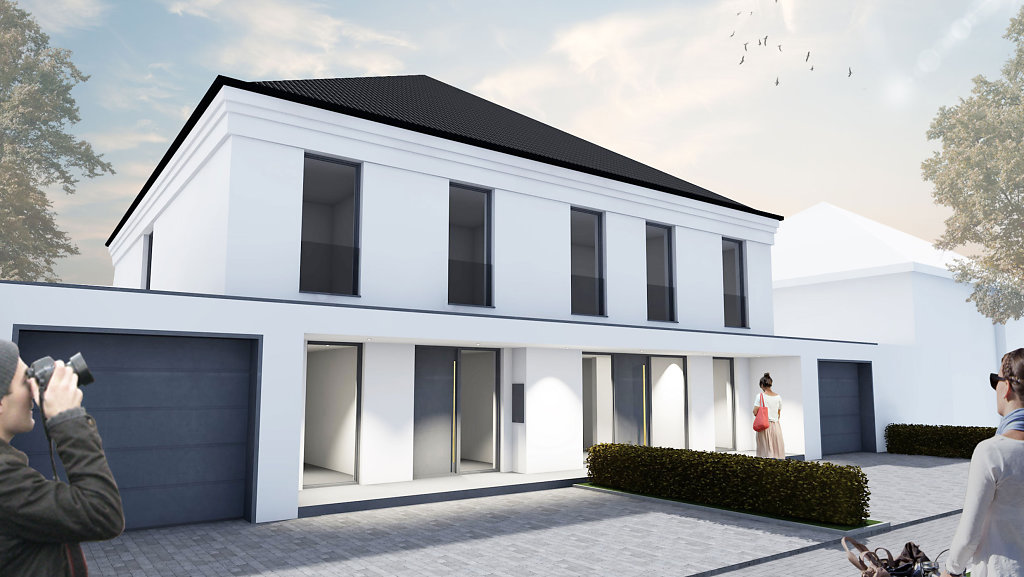 Modernes Doppelhaus in Senden - Haus V