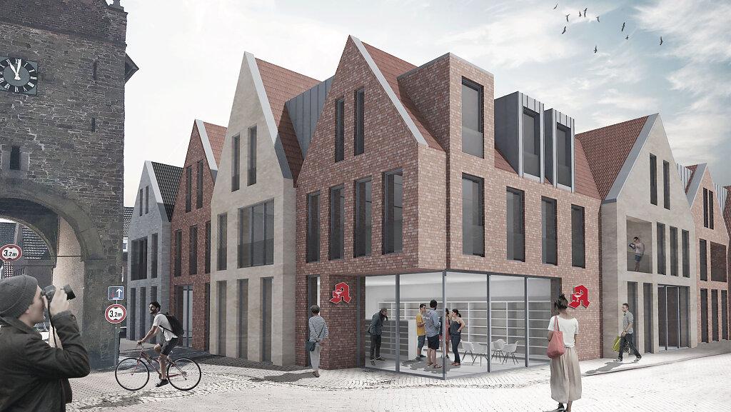 Entwurf eines Ärztehauses in Fürstenau