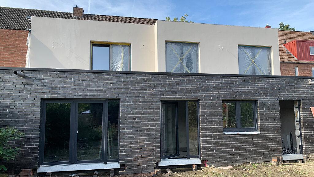 Baufortschritt - Gartenperspektive