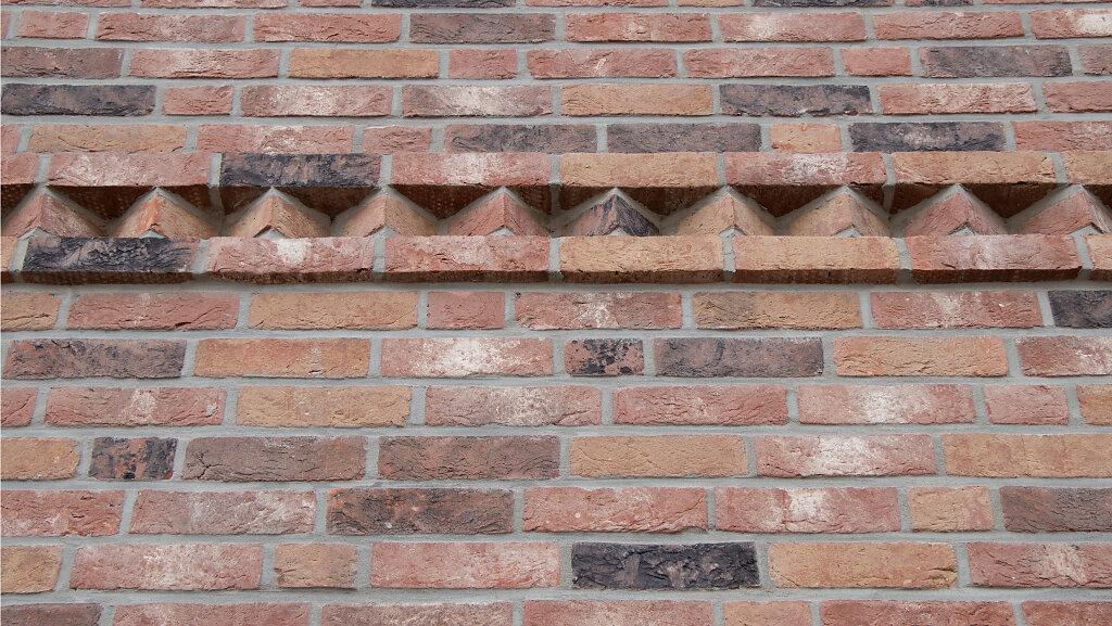Detail der Klinkerfassade