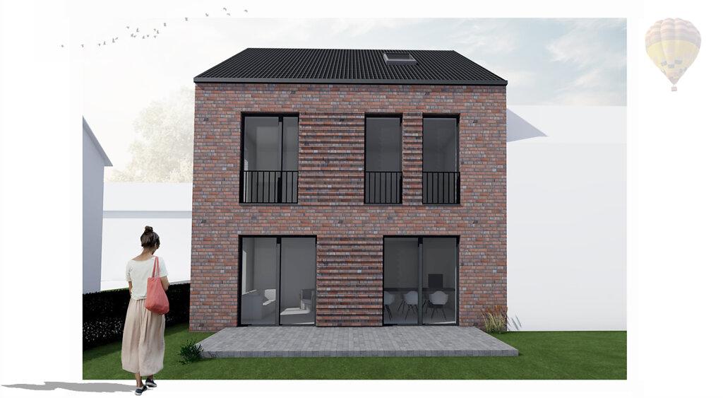 09.2019 Entwurf eines modernen Einfamilienhauses in Münster