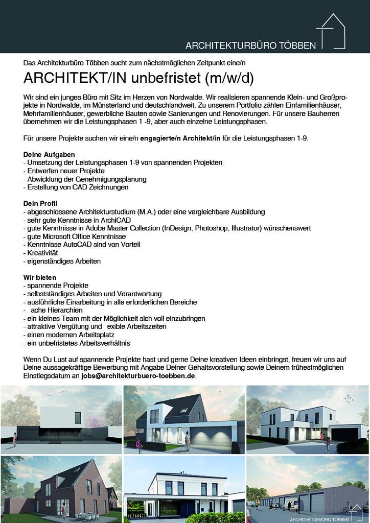 Architekt/in gesucht - Jetzt bewerben!