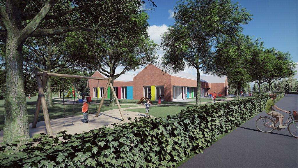 Kindergarten M - Straßenperspektive