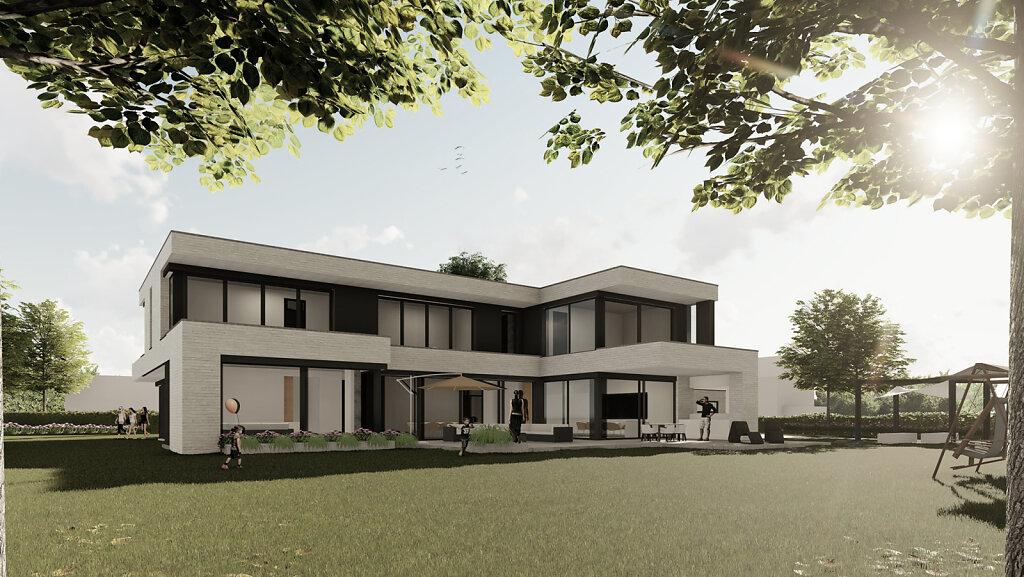 Haus OM - Gartenperspektive
