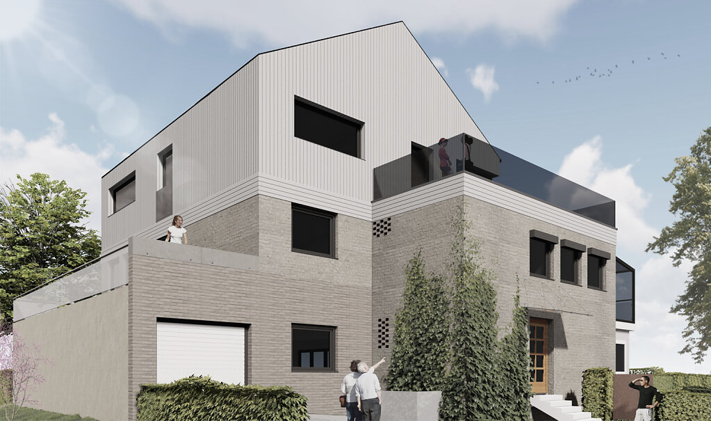 Haus S - Perspektive Eingang - Variante 2