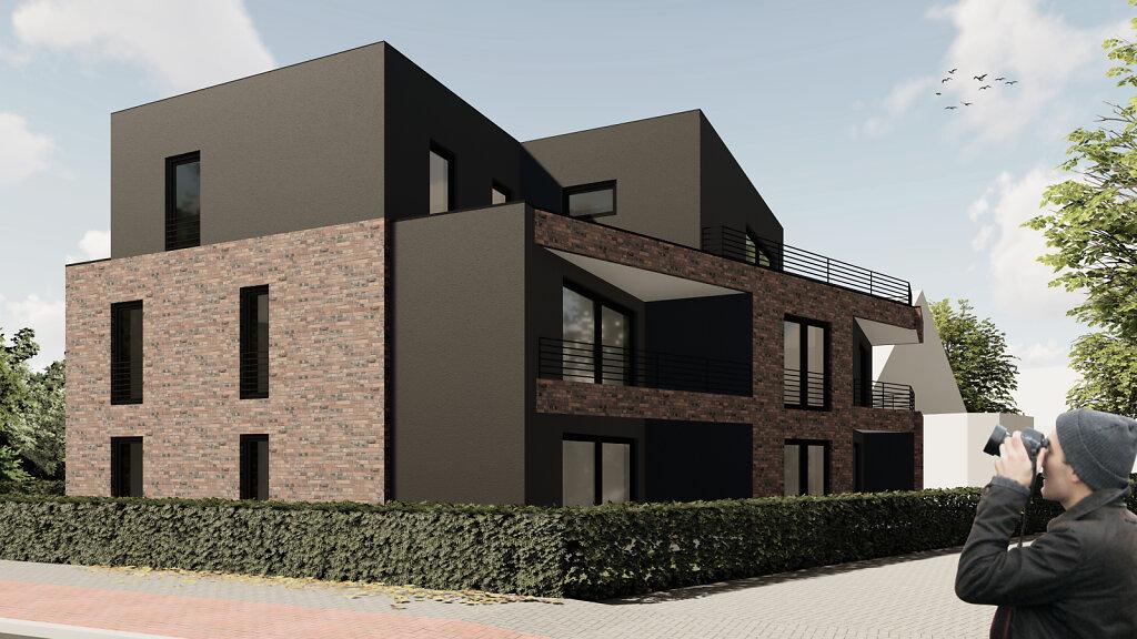 Mehrfamilienhaus GH - Straßenperspektive