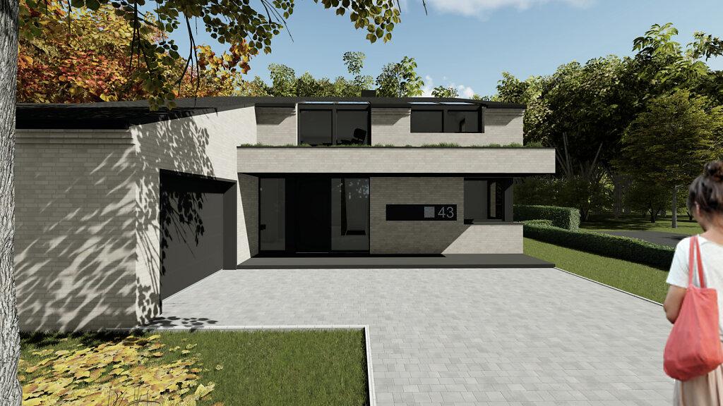 Haus R - Blick auf den Eingangsbereich
