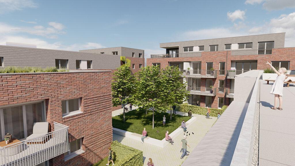 Wohnquartier Westtorhöfe - Blick in den Innenhof